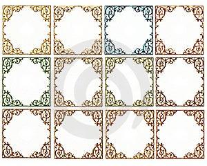 Elegant Scrolled Frames Fall Colors Stock Images - Image: 16899724