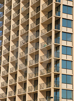 Beachfront Balconies Royalty Free Stock Photo - Image: 1694985
