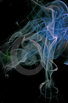 Smoke flowers Royalty Free Stock Photos
