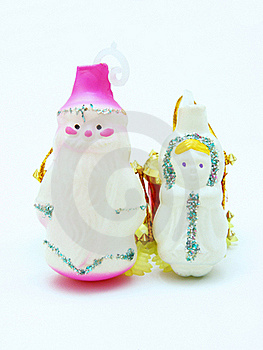 Russian Christmas  Father Frost And Snow Maiden Stock Images - Image: 16901194