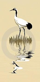 Silhouette Crane Royalty Free Stock Photo - Image: 16906985