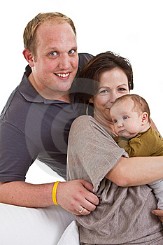 Young Family With Baby Girl Stock Photo - Image: 16908150