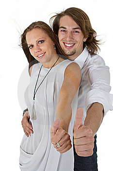 Fresh European Couple With Long Hair Royalty Free Stock Photography - Image: 16908497