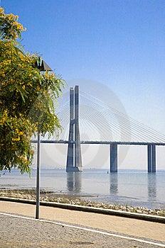 Lisbon Waterfront View Of The Vasco Da Gama Bridge Stock Photography - Image: 16915262