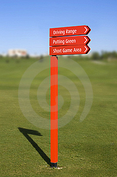 Golf Course Direction Signs Royalty Free Stock Photography - Image: 16915527