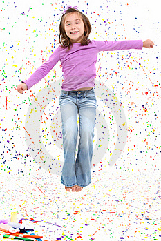 Jumping Girl Stock Photo - Image: 16915720