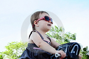Little Girl At Park Royalty Free Stock Images - Image: 16916679