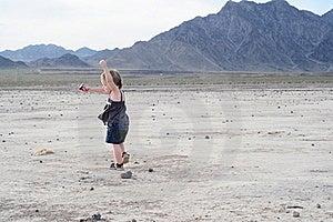 Little Girl Dancing In Desert Stock Images - Image: 16916714