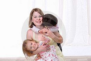 Mom, Her Son And Her Little Daughter Stock Photos - Image: 16916993