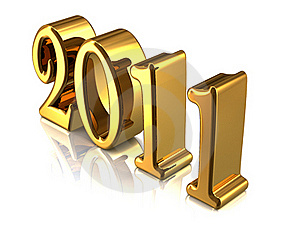 New Year Concept Isolated On White Royalty Free Stock Photos - Image: 16917878