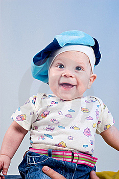 Amusing Baby Boy In A Beret Stock Photo - Image: 16918000