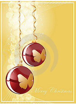 Christmas Ball On Gold Shine Background Stock Photography - Image: 16918022