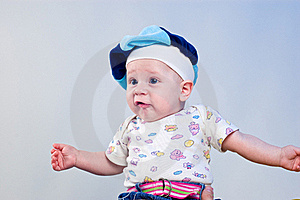 Amusing Baby Boy In A Beret Royalty Free Stock Photography - Image: 16918047