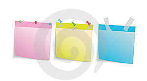 Three Colored Stationery Leaf Royalty Free Stock Photography - Image: 16918137