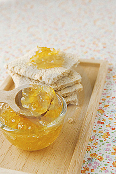 Citrus Jam And Flat Bread Royalty Free Stock Photo - Image: 16918395