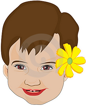 Flower Baby Girl Face Stock Images - Image: 16918624