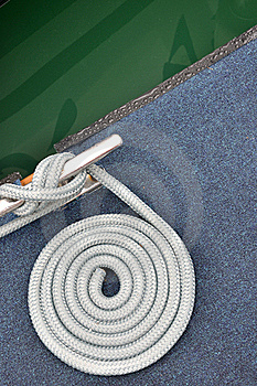 Rope Of Boat Twist Stock Photos - Image: 16919303