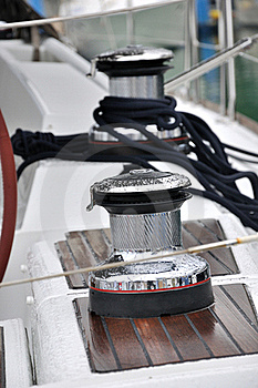 Bollard And Rope On Yacht Royalty Free Stock Images - Image: 16919379
