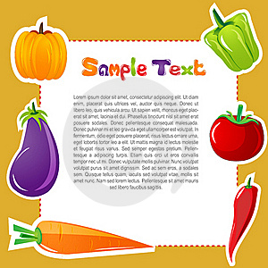Vegetable Card Royalty Free Stock Image - Image: 16921876