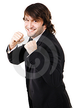 Young Businessman Is Ready To Fight Stock Image - Image: 16922811