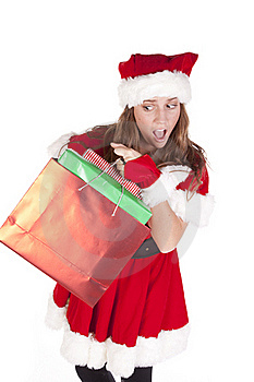 Mrs Santa Gifts Excited Royalty Free Stock Photos - Image: 16925188