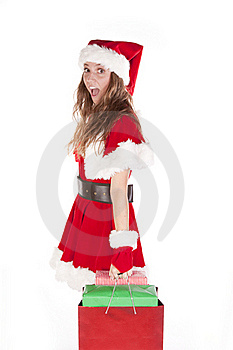 Mrs Santa With Bag Of Gifts Stock Photography - Image: 16925212