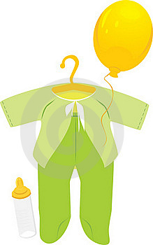 Green Suit For A Baby Royalty Free Stock Images - Image: 16925559