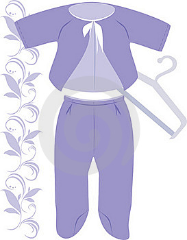 Lilac Suit For A Baby Stock Images - Image: 16925564