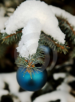 Christmas-tree Decoration Outdoor Royalty Free Stock Photos - Image: 16926038