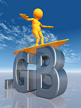 MX Top Level Domain Of Great Britain Stock Photography - Image: 16926552