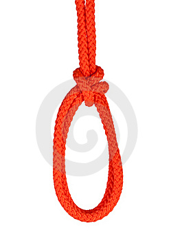 Noose Isolated On White Stock Image - Image: 16927581