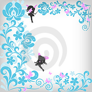 Abstract Floral Background With Fairy Royalty Free Stock Photography - Image: 16930467