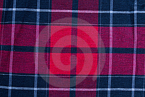 Texture Of Red-black Checkered Fabric Stock Photos - Image: 16937283