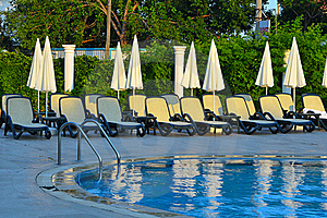 Empty Deck-chairs Stock Photo - Image: 16937460