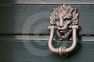 Heavy Italian Lion Door Knocker Stock Image - Image: 16942461