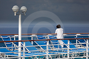 Woman On A Cruise Ship Deck Royalty Free Stock Images - Image: 16944319