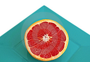 Sliced Red Grapefruit Stock Image - Image: 16949451