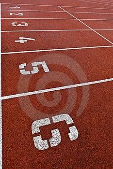 Athletics Track Lane Numbers Stock Photos - Image: 16952043