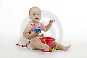 Infant With Pie Stock Photography - Image: 16953392