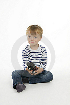 Boy With Toy - Car Stock Photography - Image: 16953592
