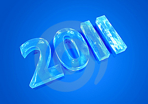 New Year 2011 Ice Figures Royalty Free Stock Photos - Image: 16954538