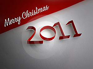 Merry Christmas 2011 Stock Images - Image: 16955594