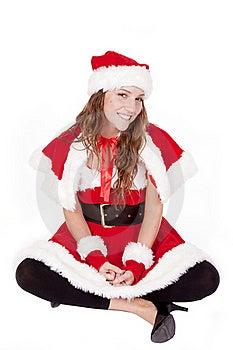Mrs Santa Sitting Stock Photo - Image: 16955680