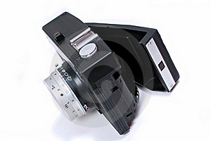 Open Old Black Camera Stock Image - Image: 16955821