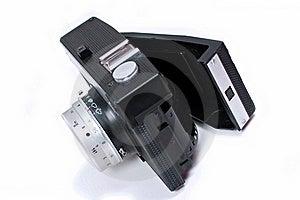 Open Old Black Camera Stock Image - Image: 16955821