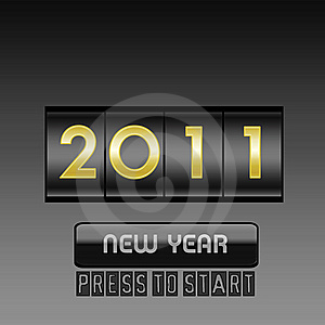 New Year  Counter Stock Images - Image: 16956554