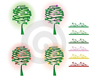 Four Trees Royalty Free Stock Image - Image: 16957796
