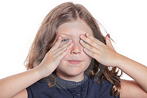 Little Girl Covering Eyes Stock Images - Image: 16959434