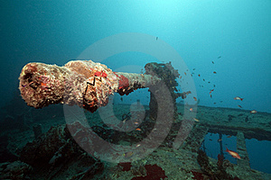 Weapons Of The Thistlegorm Wreck. Royalty Free Stock Image - Image: 16960476