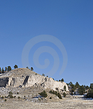 Large Hill With Cliffs Royalty Free Stock Photo - Image: 16960535